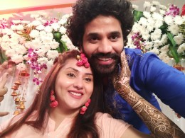 Actress Namitha and Veer Marriage Mehandi Function