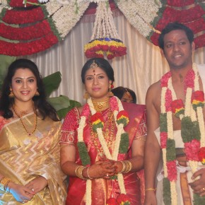 Actress Sangavi - N Venkatesh Wedding Stills