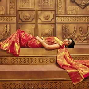 Actress Shriya Saran Traditional Photoshoot for CMR Textiles