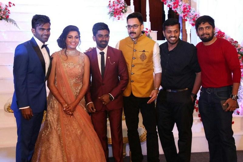 chennai365 celebrities at music director dharan kumar and actress deekshithas wedding reception photos chennai365
