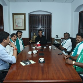 HMK President Arjun Sampath Meets Kamal Haasan Photos