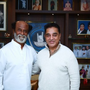 Actor-politician Kamal Haasan met superstar Rajinikanth Stills