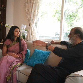 Kasthuri meets Superstar Rajinikanth 2