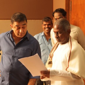 Muthuraamalingam movie song recording stills