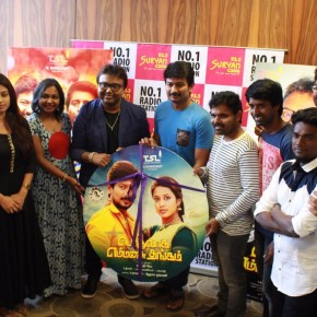 Pothuvaaga EmManasu Thangam Team during the audio launch at SuryanFM! (1)