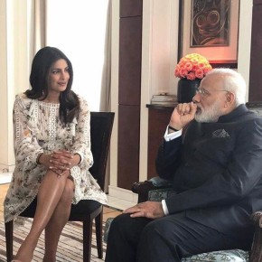 Priyanka Chopra with PM Narendra Modi 2