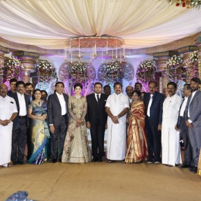Producer Abinesh Elangovan – Nandhini Wedding Reception Stills