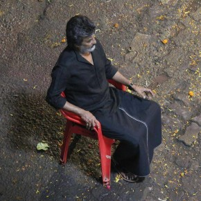Rajnikanth spotted shooting for Kaala in Mumbai (1)