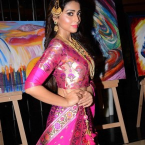 Shriya Saran At Wedding Wows Fashion Show Stills (6)