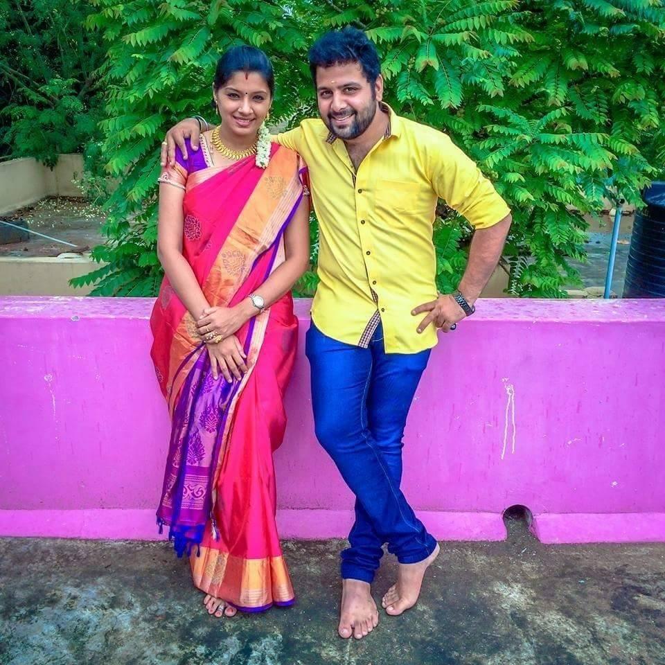 chennai365 tv actor sai prashanth with his wife