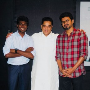 Ulaganayagan Kamal Haasan along with Vijay, Atlee and team watched Mersal Movie (1)